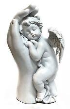 6.5 Sleeping Cupid Cherub Angel Hand Figurine Statue for Indoor Outdoor Garden