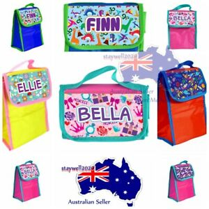 Personalised KID'S LUNCH BAG Portable Insulated Thermal Cooler Carry Travel Bag