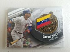 2020 Topps Series 1 Global Game Medallion Card Willson Contreras Chicago Cubs