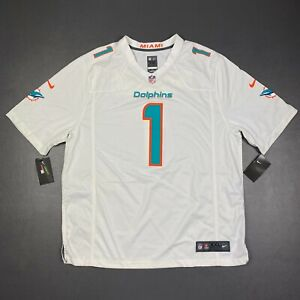 100% Authentic Tua Tagovailoa Nike On Field Dolphins Game Jersey Size 2XL 52