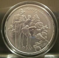Merry Consumerism  1 oz .999 Silver Shield limited Christmas debt, end the fed