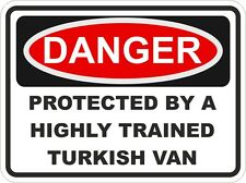Cat Breed TURKISH VAN Danger Sticker Pet For Bumper Locker Car Door
