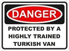 Raza Gato Mascota turco van peligro pegatina para puerta de coche de parachoques Locker