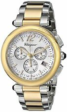 Salvatore Ferragamo F77LCQ9502 S095 Idillio Woman's Two-Tone Chronograph Watch