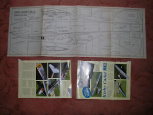 """Silent Flight Plans of the Krby Cadet Mk2 a scale glider model 76"""" span"""