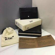 Montblanc Meisterstuck Money Clip Wallet Black Leather