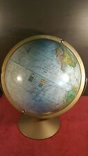 Vintage Replogle Land And Sea World Globe 12 Inch Raised Relief