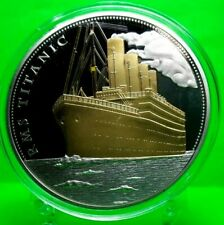 RMS TITANIC COMMEMORATIVE COLOR COIN PROOF  VALUE $129.95