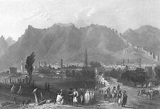 Syria, Antioch Walls Bridge Tower Orontes River ~ Old 1838 Art Print Engraving