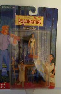 Disney's Pocahontas/Chief Powhatan/John Smith 3 pack/New