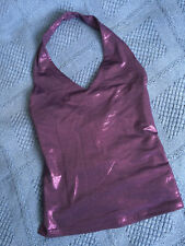 Haut PIMKIE 🌟 Violet métallisé brillant doux dos nu 🌟 Taille 1