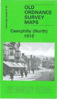 OLD ORDNANCE SURVEY MAP CAERPHILLY NORTH 1915 PONTYGWINDY ROAD VAN ROAD