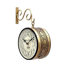 Vintage Clock Double Side (Railway Style) Clock/with Copper Finish Decor Style
