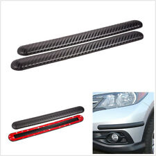 2x Carbon Fiber Color Car Bumper Edge Anti-rub Anti-collision Rubber Guard Strip
