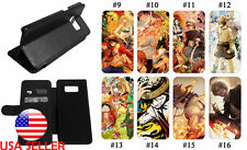 Galaxy Samsung PU Leather Wallet Flip Stand Phone Case One Piece Ace Anime #2