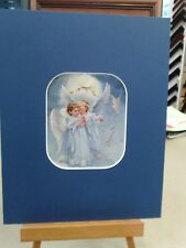 SANDRA KUCK MATTED CARD HEAVENLY MESSAGE LITTLE BOY GIRL ANGEL WINGS DOVES