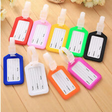 10 Travel Luggage Bag Tag Plastic Suitcase Baggage Office Name Address ID Label