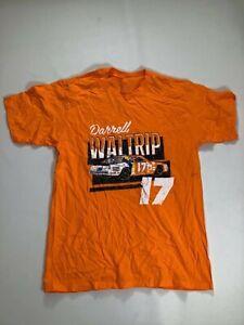 Men's Orange Short Sleeve Darrell Waltrip Nascar Shirt M NEW!