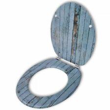 vidaXL Toiletbril MDF Deksel Houten Ontwerp WC-bril Wcbril Bril Toilet Zitting