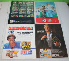 Vintage NFL Football Print Ad and Magazine Cutout Part A | You Pick