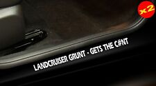 LANDCRUISER 80 100 200 series 4X4 Door Sill Stickers GRUNT 400mm PAIR