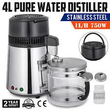 4L 750W STAINLESS STEEL WATER FILTER DISTILLER PURIFIER DENTAL LAB MACHINE HOME