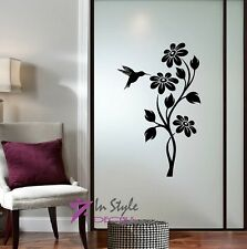 Wall Vinyl Decal Flowers and Hummingbird Floral Pattern Nature Wall Sticker 37