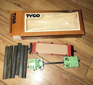 Tyco HO Scale Log Transport Car w/Logs