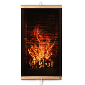 Infrared Heating Panel Fireplace Flexible Wall-Hung Electric Heater 230V 430W