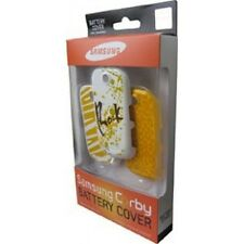 SET 3 BATTERYCOVER COVER ORIGINALE SAMSUNG GT-S3650 GT S3650 CORBY YELLOW