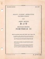 1944 AAF BOEING B-17F FLYING FORTRESS BOMBER PILOTS FLIGHT MANUAL HANDBOOK-CD