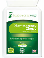 Montmorency Cherry Capsules 90 x 750mg HIGH STRENGTH For Joints, Insomnia, Gout