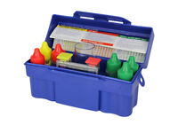 5 Way Swimming Pool Spa Water Chemical Testing Pack Kit with Blue Storage Kit