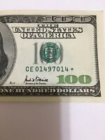2001 $100 US vintage Star Note # CE01497014* (Richmond)Only 1,920,000 Printed