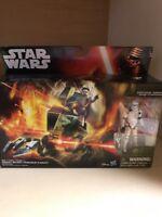 "ASSAULT WALKER & STORMTROOPER SERGEANT 3.75"" Deluxe Star Wars FORCE AWAKENS GSB"