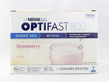 NEW FORMULA | OPTIFAST® 800 POWDER SHAKES | 1 CASE | STRAWBERRY | 84 SERVINGS