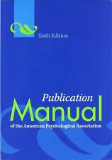 Publication Manual of American Psychological Association 6th Ed 9781433805615