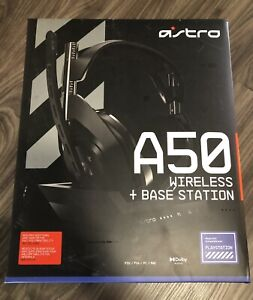 Brand New Astro A50 Wireless Headphones + Base Station Over Ear PS5 PS4 PC MAC