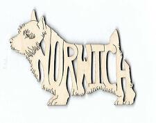 Norwich Terrier Dog laser cut wood Magnet