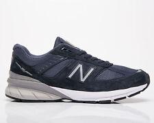 New balance 990 Hecho en EE. UU. para hombres zapatos zapatillas de plata estilo de vida Informal Azul Marino