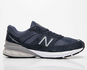 New Balance 990 Made In USA Men's Navy Silver Casual Lifestyle Sneakers Shoes