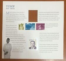 Singapore stamps -President Yusof Ishak by Czeslaw Slania,Presentation Pack 2pic