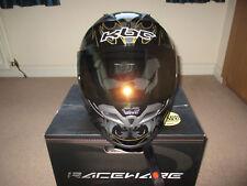 KBC MODEL VR-2R-SPARK MOTOR CYCLE HELMET SIZE SMALL BLACK, GOLD & SILVER