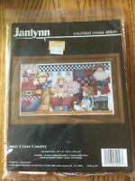 "Janlynn I Love Country Christmas Santa Cross Stitch Kit - 14"" X 8"""