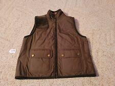 Lauren Ralph Lauren Equestrian Shooting Reversible Vest Medium Brown