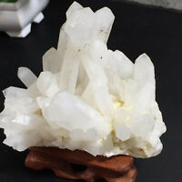 A+ Natural Beautiful clear QUARTZ Crystal Cluster Specimen 430g
