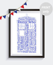Personalised Doctor Who Tardis A4 Word Art print Gift