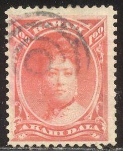 HAWAII #49 Used - 1882 $1.00 Rose Red ($275)