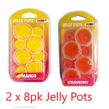 2 x ProRep 8 Pack Jelly Pots Mango & Strawberry Reptile Crested Gecko Feeding
