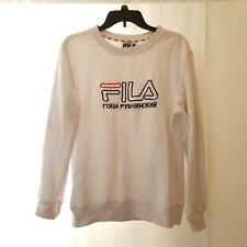 Men's FILA x GOSHA RUBCHINSKIY White Crewneck Sweater Size XL